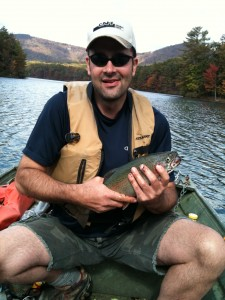 Brad's big trout at Big Canoe