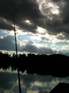evening on big canoe lake