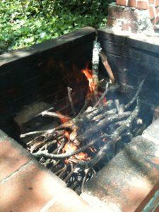 hickory-burning